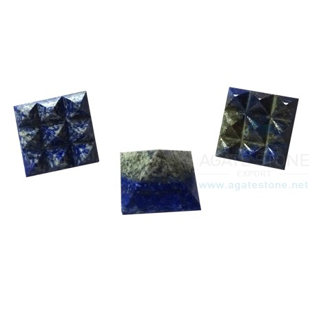 Lapis Lazuli Vastu Pyramid with Nine Pyramid in Base