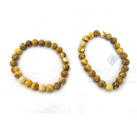 Petrified Wood Beaded Bracelets