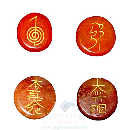 Red Carnelian Reiki Disc Set (1)