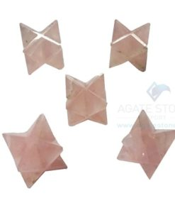 Rose Quartz Small Merkaba Stars