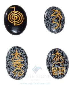 Snowflake Obsidian Oval Reiki Set Wholesale