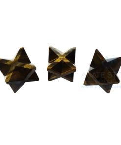 Tiger Eye Big Merkaba Stars