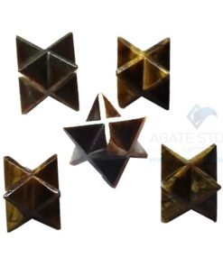 Tiger Eye Small Merkaba Stars