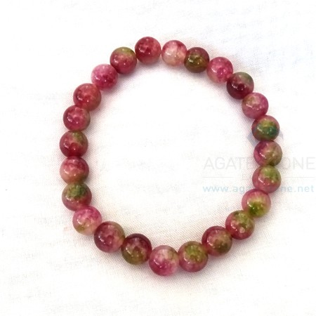 Watermelon Tourmaline Beaded Bracelets