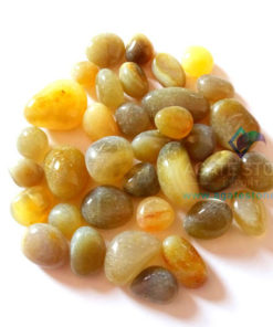 Yellow Agate Tumbled Stones