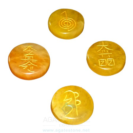 Yellow Aventurine Reiki Disc Set (2)