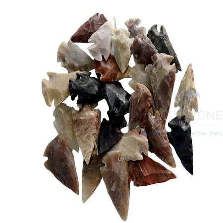 Mix Agate Arrowheads 1 Inch