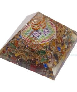 Mix Orgonite Chakra Flower of Life Orgone Pyramid