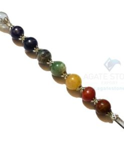 7 Chakra Ball Healing Stick with Flower Design