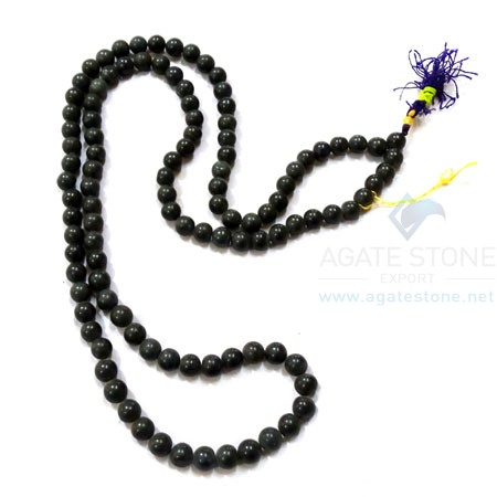Black Agate Japmala Necklace