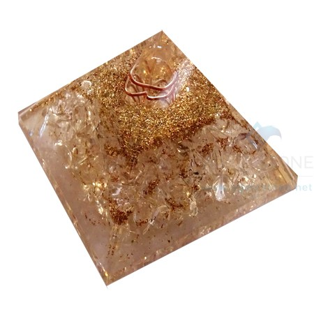 Crystal Quartz Orgone Pyramid with Natural Point