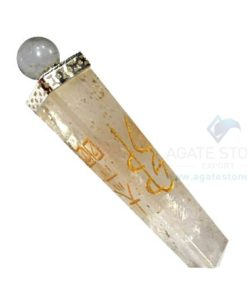 Crystal Quartz Reiki 4 Faceted Healing Stick