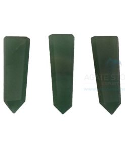 Green Aventurine Flat Pencil Points