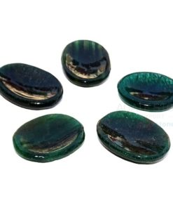 Green Mica Worry Stones