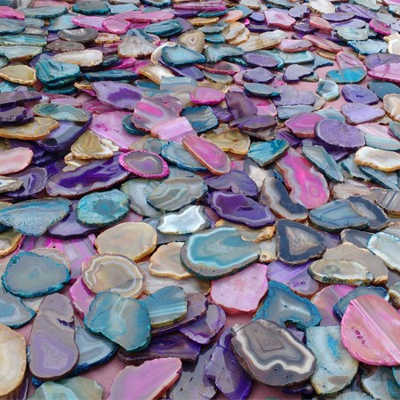 Mix Wholesale Agate Dyed Polished Slices