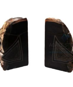 Natural Shape Black Dyed Agate Bookend