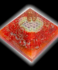Orange Orgone Chakra Symbol Pyramids Wholesale