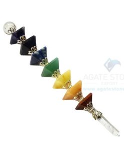 Pyramid Healing Stick with Flower Design Joints