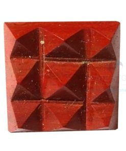 Red Jasper Vastu Pyramid with 9 Pyramids