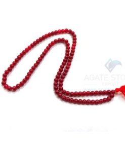 Red Onyx Japmala Necklace