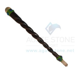 Rose Wood Twisted Tibetan Healing Wands