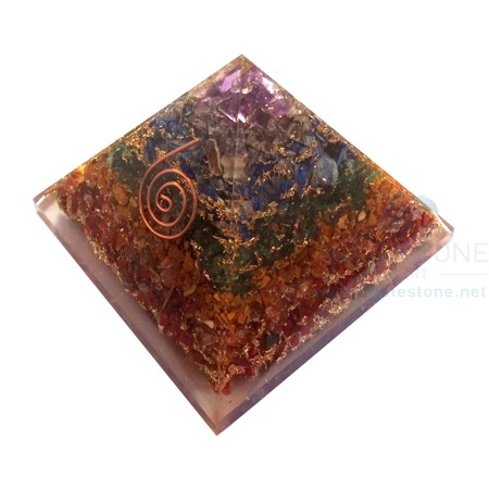 Seven Chakra Layered Orgone Metaphysical Pyramid