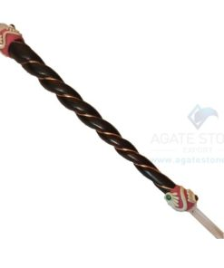 Tibetan Healing Stick with Rose Wood Stick and Crystal balls