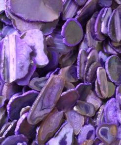 Wholesale Natural Purple Dyed Agate Polished Slices