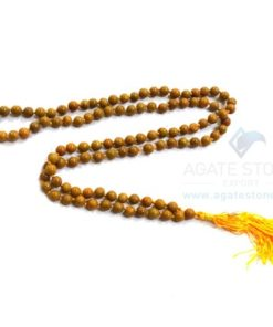 Yellow Camel Jasper Japmala Necklace