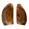 Yellow Dyed Natural Shape Agate Bookends