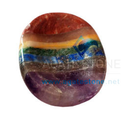 7 Chakra Bonded Worry Stone Cum Thumbs