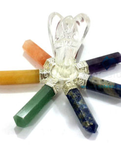 Energy Generator Tool with Clear Quartz Angel