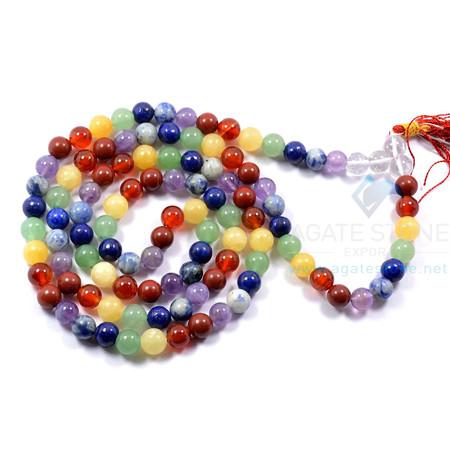 7 Chakra Gemstone Beaded Necklace
