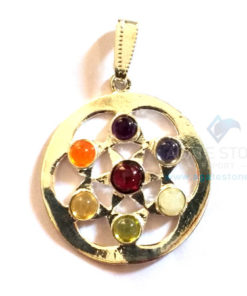 7 Chakra Power Gainer Metal Pendant