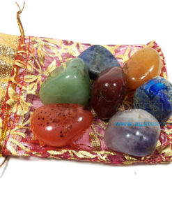 7 Chakra Tumbled Stone with Pouch