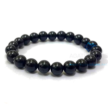 Black Agate Beaded Bracelets