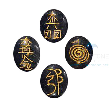 Black Tourmaline Reiki Oval Set