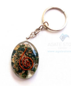Bloodstone Orgonite Oval Keychains