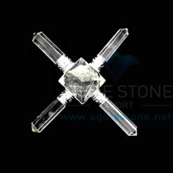 Clear Crystal Quartz Energy Generator With Clear Crystal Points