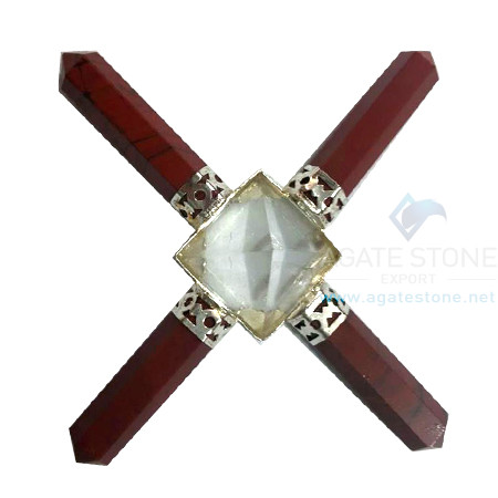 Gemstone Energy Generator Tool with 4 Red Jasper Pencil Points