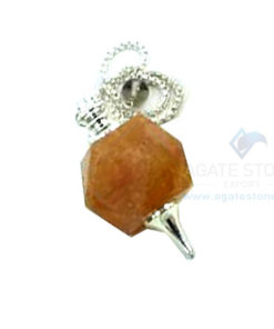 Golden Quartz Octagonal Faceted Pendulum