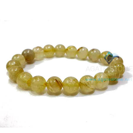 Golden Rutile Beaded Bracelets