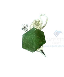 Green Aventurine Octagonal Faceted Pendulum
