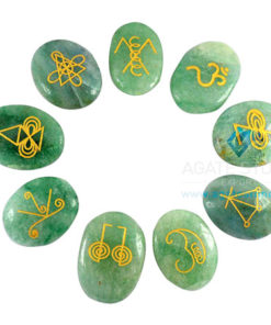 Green Aventurine Oval Karuna Reiki Element Set