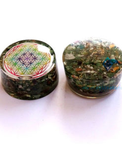 Green Jade Orgonite Tower Booster
