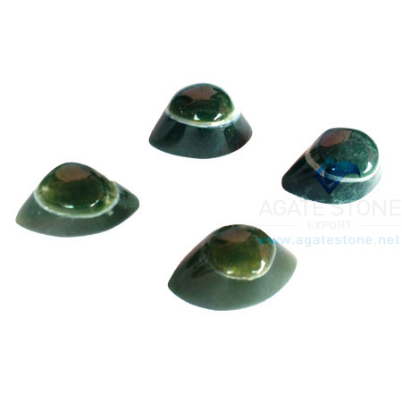 Green Onyx Shiva Agate Eyes
