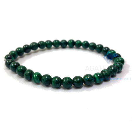 Malachite Beaded Elastic Bracelet