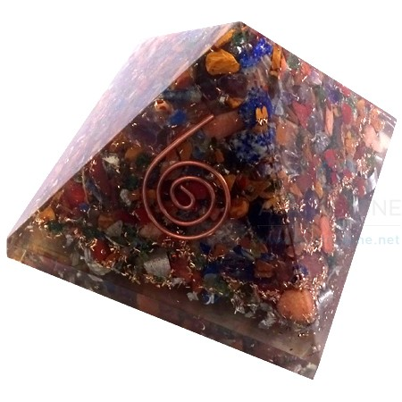 Mix Chakra Orgonite Energy Pyramid