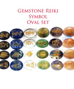 Mix Gemstones Reiki Oval Symbol Set