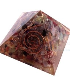 Orgone Energy Mix Healing Gemstone Chakra Pyramid